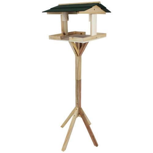 Holz Vogelhaus mit Ständer Vogelhäuschen Futterhaus Futterstelle Futterspender