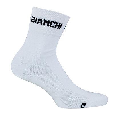 Bianchi Milano ASFALTO Coolmax Cycling Socks One Pair WHITE//CELESTE