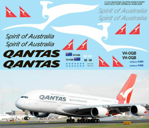 1//144 QANTAS AIRBUS A380 800 REVELL KIT LIVERY DECALS TB DECAL TBD76