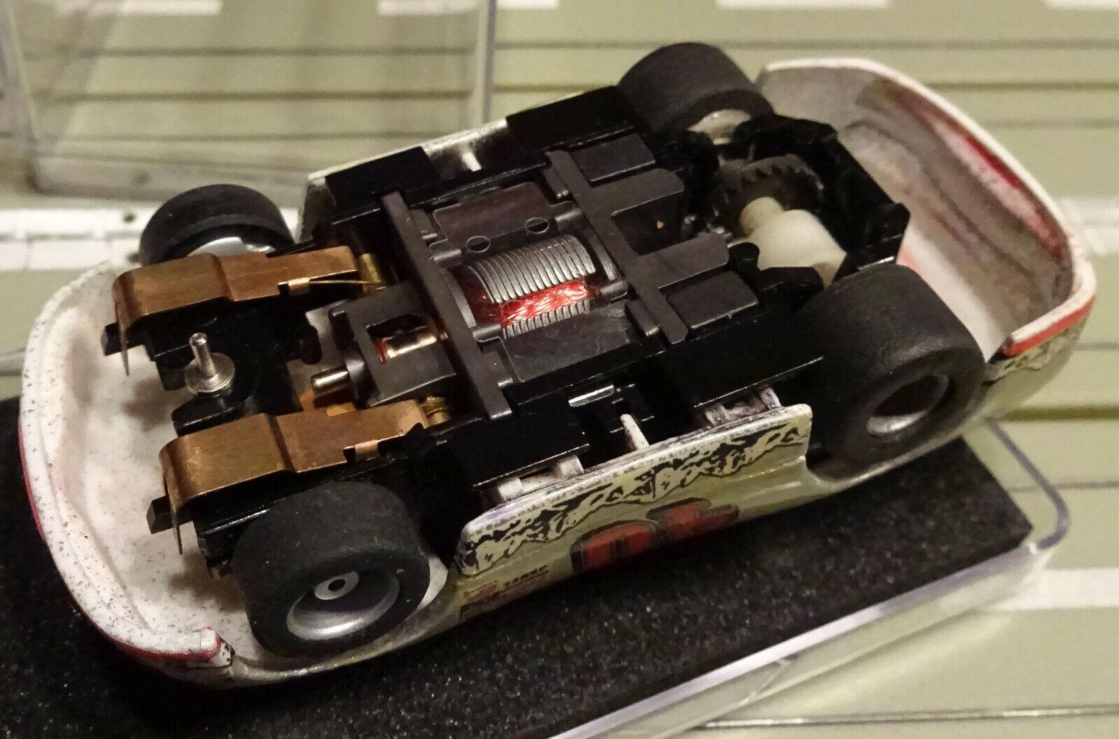 Para H0 Coche Coche Coche Slot Racing Maqueta de Tren Ford Nascar con Tyco el Motor a2cc20