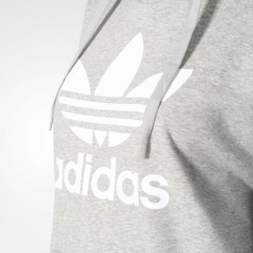 Grigio da Adidas ~ con felpa cappuccio bp9486 Originals Trefoil donna 191021611198 Nuova Large taglia xInq7ZSwYI
