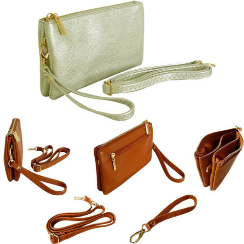 Wedding Clutch Bags Bridal Bag Evening Purse Small Multi Pocket Cross Body Strap