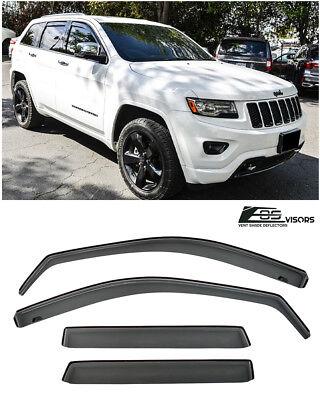 For Jeep Cherokee 14-19 Window Deflectors In-Channel Ventvisor Smoke Front /&