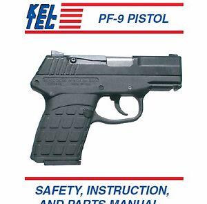 keltec pf 9 pistol instruction and maintenance manual pf9 ebay rh ebay com Kel-Tec 9Mm Kel-Tec PF-9 9Mm