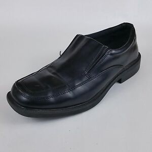 hunters bay mens slip on oxford loafers black dress work