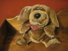 "RARE 7"" 24K Grand Ole Opry 1995 Plush OLE BLU Brown DOG w/ Bandana"