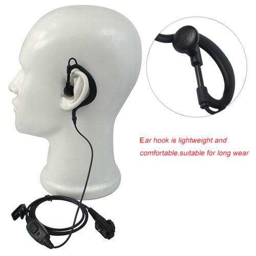2pcs G-shape Earpiece Microphone Earhook for HYT PT-580H PD700 780 PD785 Radio