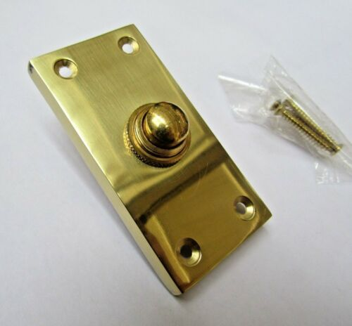 Campana de latón sólido Push Puerta Bell Empuje con Cable en 3 Acabados