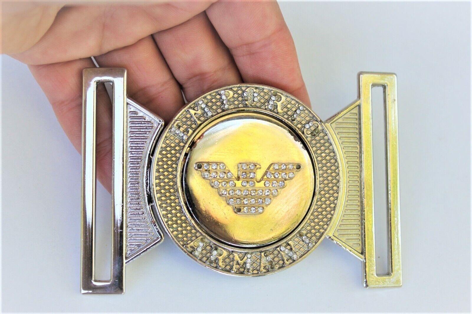 Vintage Emporio Armani Belt buckle Elastic waist belt buckle with artificial sto