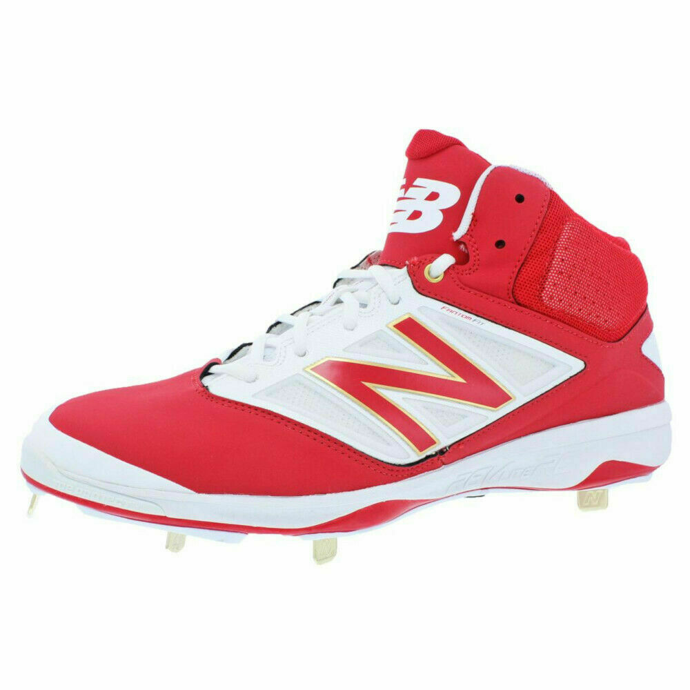 Tamaño 10.5 D para hombre New Balance Atlético botín de béisbol de metal M4040AR3 blancoo Rojo