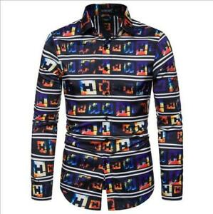 New-Fashion-Men-039-s-Shirts-Slim-Fit-Long-Sleeve-Dress-Shirts-Classic-T-Shirts-Tops