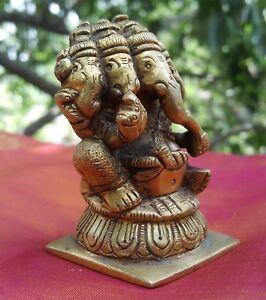 Ganesha-5-tetes-Namaste-Statue-Bronze-Inde-Hindou-Nepal-Ganesh-Ethnique-Yoga