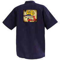 Esso Mascot Couple - Mechanics Graphic Work Shirt Short Sleeve