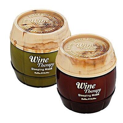 [HOLIKA HOLIKA]  Wine Therapy Sleeping Mask Pack 120ml 2 type Choose one / Korea