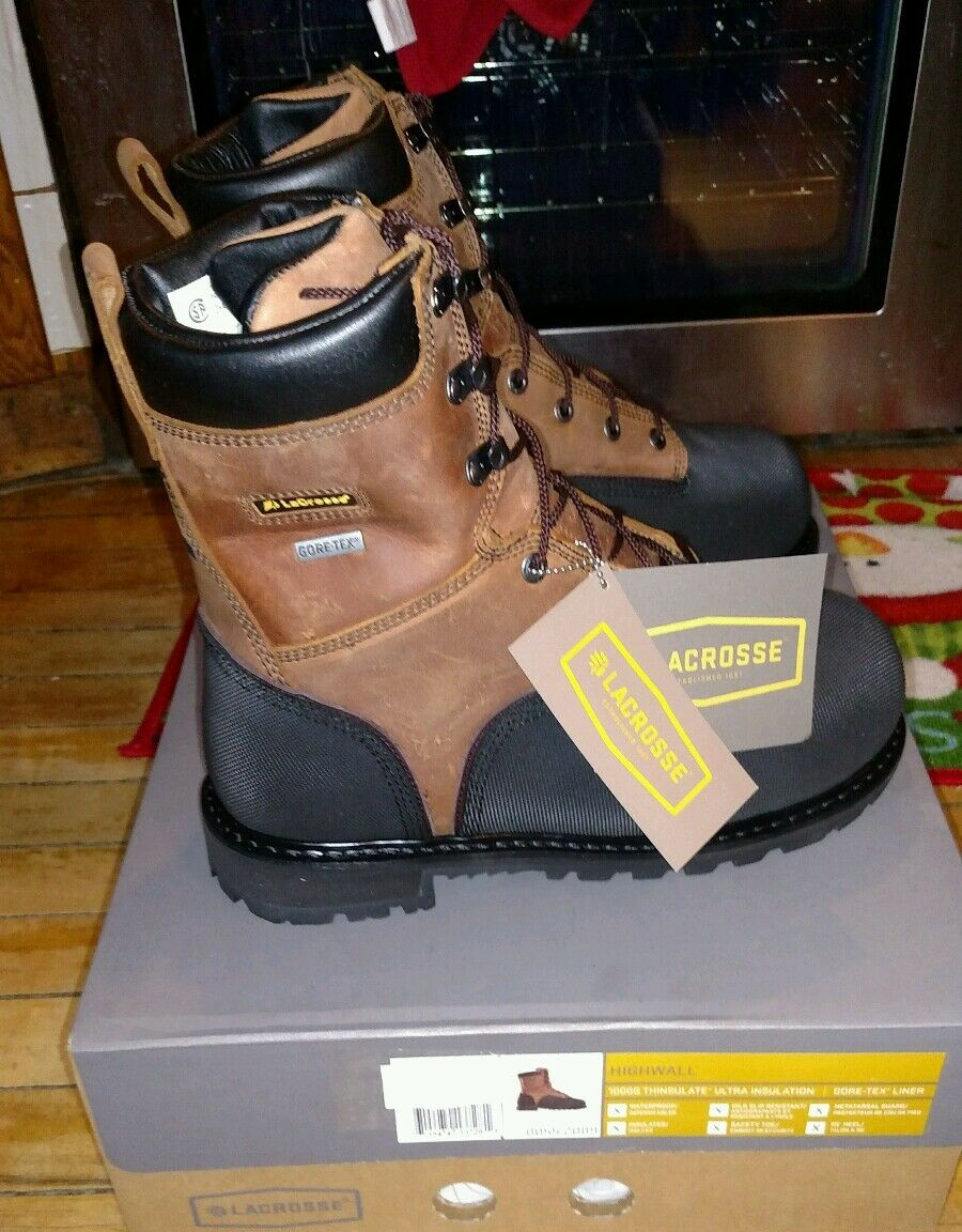 LaCrosse HIGHWALL 8 1000g Safety Toe Met Guard 00552089 NEW Size 7 MEDIUM