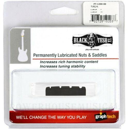 GRAPH TECH® BLACK TUSQ XL 4-STRING BASS GUITAR SLOTTED NUT *NEW* PT-1200-00