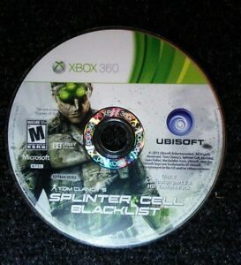 Tom-Clancy-039-s-Splinter-Cell-Blacklist-Xbox-360-Microsoft-Disc-2-Only-TESTED-Rare