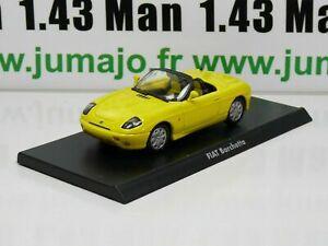 IT22G-Voiture-1-43-civile-Italienne-MAXI-CAR-FIAT-Barchetta-jaune