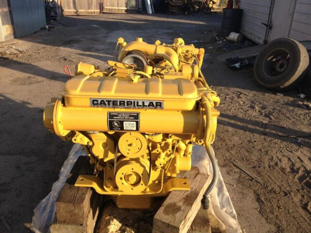 Caterpillar CAT 3208 TA 435hp Pair of Marine Diesel Boat Engines With  Gearboxes