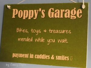 Poppy-039-s-Garage-Grandfather-Grandpa-Sign-Rustic-Chic-Shabby-Cute-Wooden-Sign