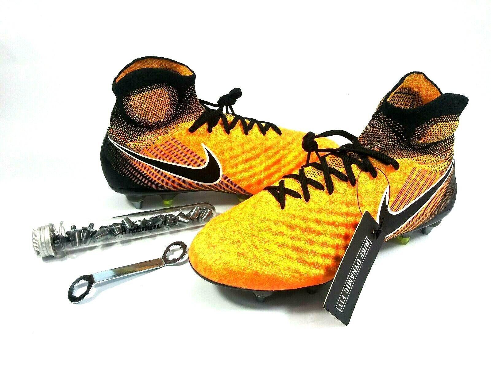 Nike Magista Obra Ii Sg-pro Botines De Fútbol Flyknit Acc tamaño 7 844596-802 A1512M
