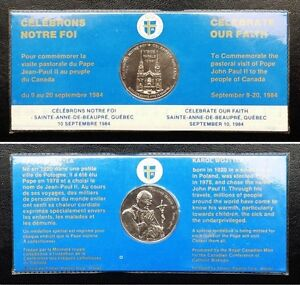 1984-Canada-Papal-Visit-to-Quebec-John-Paul-II-Royal-Canadian-Mint-Medallion