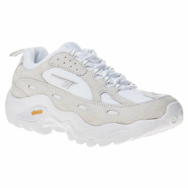 Nouveau Chaussures Femmes Hi-Tec blanc neutre HTS Flash ADV Racer tissu baskets Chunky Trainers