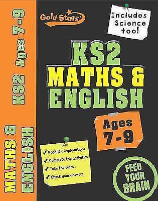 1 of 1 - Gold Stars: Workbook Bind Up KS2 Age 7-9 Maths & English, Gold Stars, Very Good