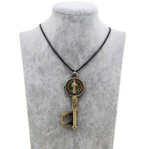 Saint-Benedict-St-Exorcism-Protection-Medal-Cross-Catholic-Bronze-Key-Pendant