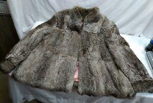 Vintage taille de 1 2 fabriqué Kong fourrure Excellent Manteau Hong 26 en état lapin à APwOdZq