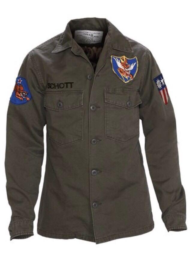 Schott Mens Flying Tenth Fatigue Shirt 8701 Olive XS & S