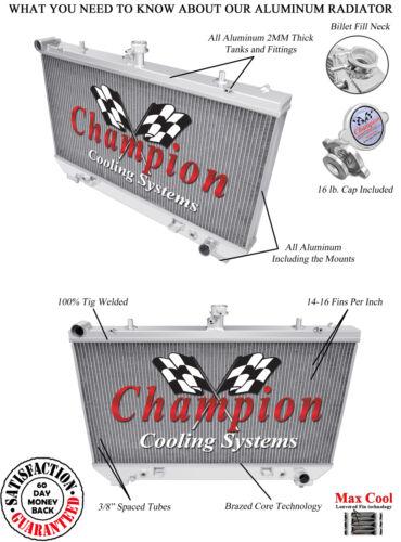 3 Row SR Champion Radiator for 2010 2011 Chevrolet Camaro V8 Engine