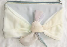 MAISON MARTIN MARGIELA Pastel Silk Leather Flower Clutch Bag