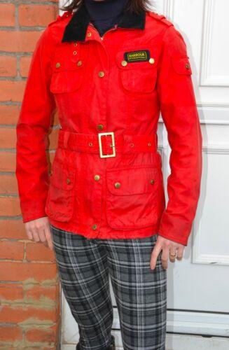 Barbour International Rouge Uk 6 Taille Jacket Wax xrTxZ