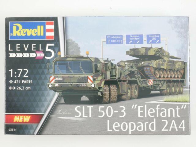 Revell 03311 Slt Elefante Leopardo Panzer Kit Construcción 1:72 como Nuevo! Ovp