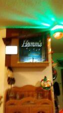 Vintage Hamm's Starry Night Goblets Lighted Motion Beer Sign Cabin Style Bar
