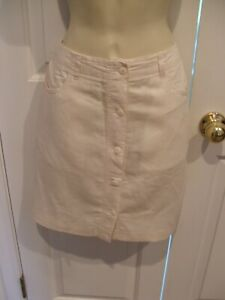 NWT-newport-news-styles-to-go-IVORY-jeans-straight-skirt-size-6