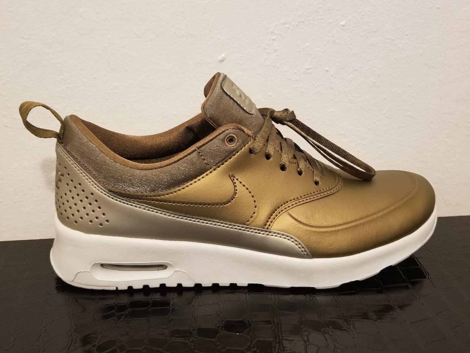 Nike Air Max Thea Premium Women Sneakers Metallic Field (616723-902) Size 7