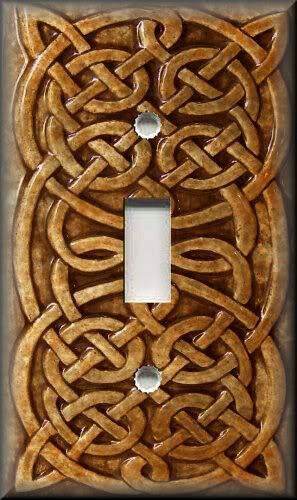 Home Decor Celtic Knot Decor Copper Rust Brown Metal Light Switch Plate Cover