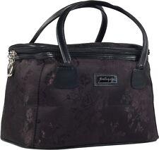 Jacquard Make-up Bag wedding gift bridal gift Black Fabric