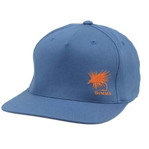 151c3ceb1d4 Simms Fly Fishing Twill Flat Brim Snapback Hat Cap Dark Moon Color ...