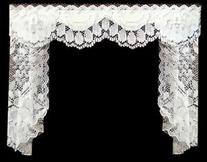 Plus Délicate Dentelle Blanche Rideau/queue/rideaux Pour Maison De Poupées Par Sylvia Rose-afficher Le Titre D'origine