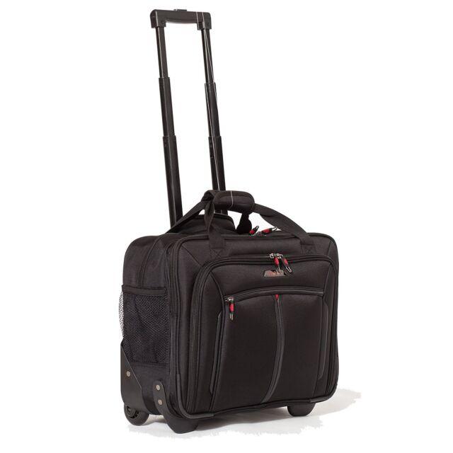"Aerolite 17"" Executive Cabin Approved Wheeled Luggage Business Laptop bag Case"