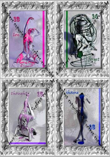 naked body woman female sibyl oracle rare tarot card cards deck oracle telling