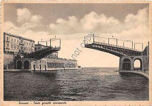 Cartolina-Postcard-Taranto-Ponte-girevole-semiaperto-anni-039-50