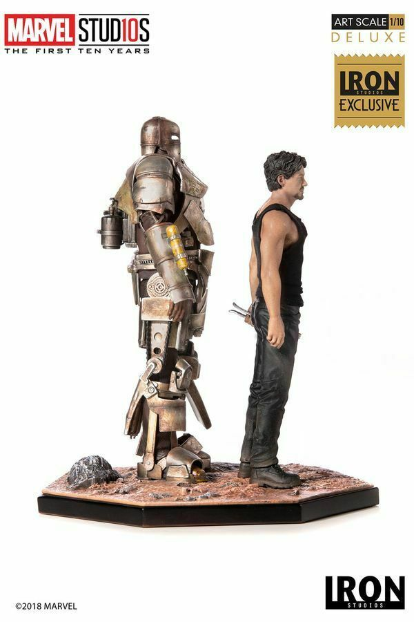 Iron Man - Tony Stark & Mark I 1 10 Scale Statue Exclusive-IRO73517-IRON STUDIOS