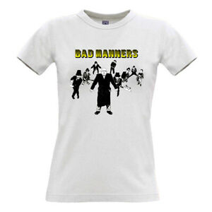 Exclusive collectors. Ladies SKA T Shirt Small to XXL Womens BAD MANNERS