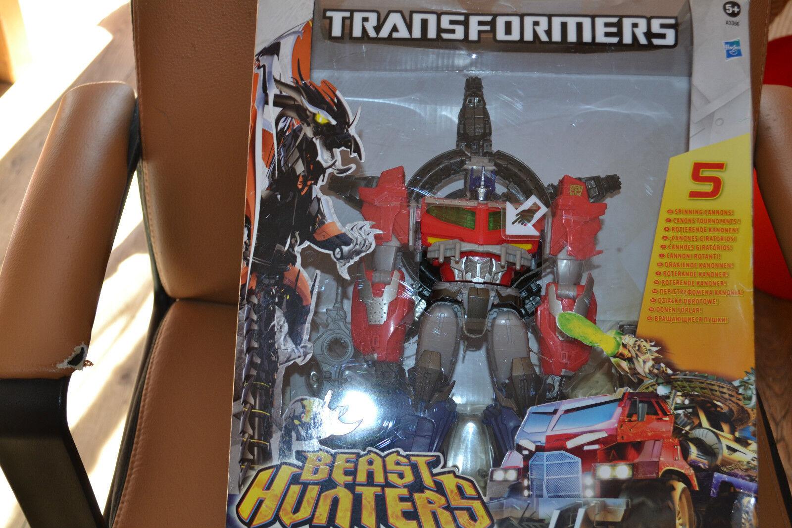 Transformers neuf optimus  prime canons tournoyants chasseur de créatures  qualité officielle