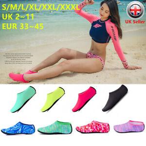 Unisex-Uomo-Donna-Scarpe-di-Pelle-d-039-Acqua-per-Bambini-Calze-Slip-On-Sea-Bagnato-Spiaggia-Nuoto