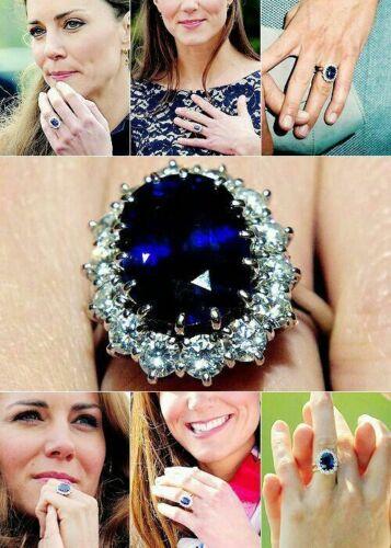 Art Deco 4.65 Ct Blue Oval Sapphire Antique Vintage 925 Silver Engagement Ring